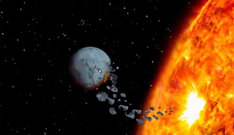 planeta está sendo devorado por sua estrela