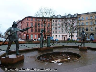 berlin, verschiede, bildern, strasse, Feuerwehrbrunnen, Mariannenplatz