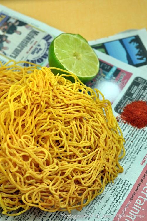 Crispy Gramflour Noodles | Indian Snack Recipes