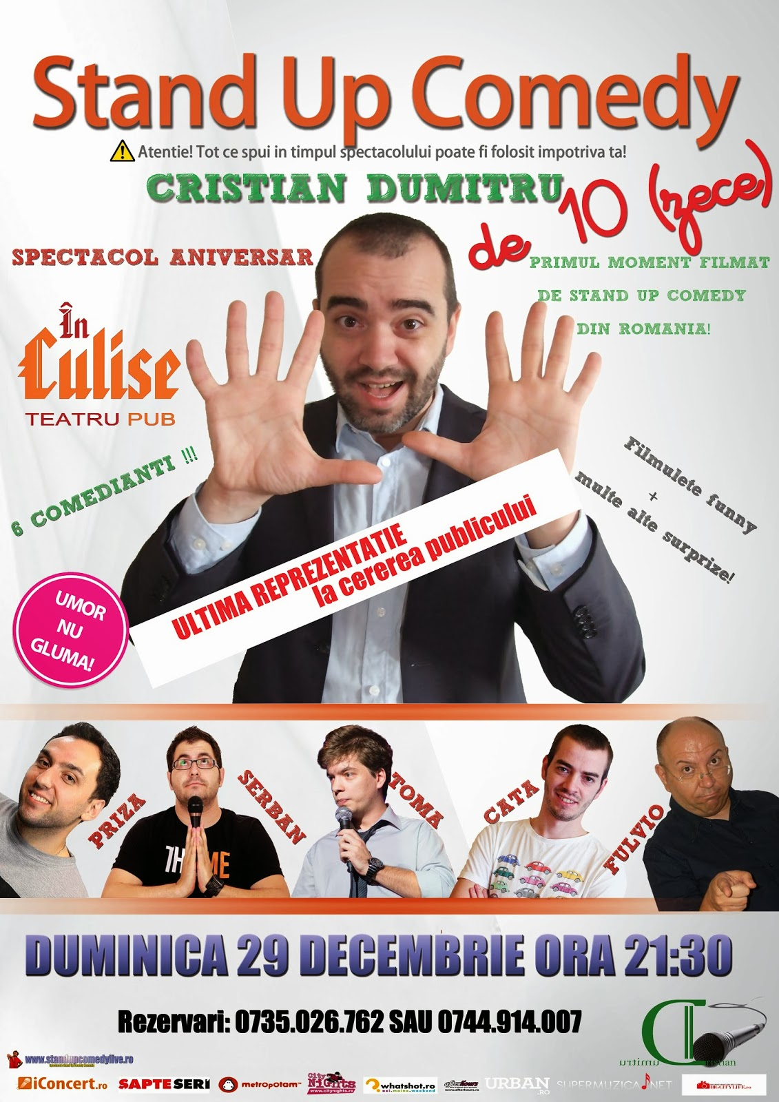 stand up comedy bucuresti romania