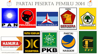 Logo Partai Politik 2014