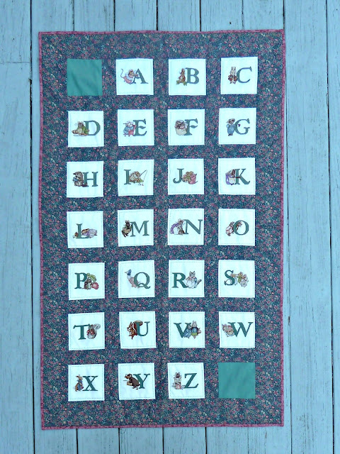 alidiza: Beatrix Potter Counted Cross Stitch Alphabet Quilt