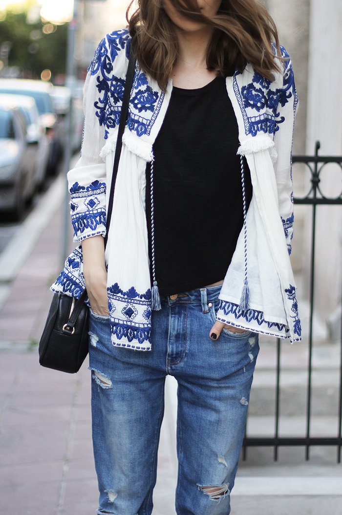 Fashion and style embroidered jacket