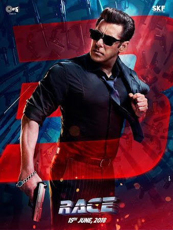 Poster Of Bollywood Movie Race 3 2018 300MB Pdvd Full Hindi Movie