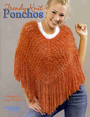 American Girl Doll Easy Garter Stitch Poncho from Leftover