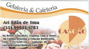 GELATERIA  E CAFETERIA CASCÃO