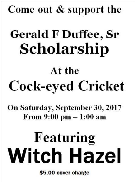 9-30 Gerald F. Duffee, SR. Scholarship