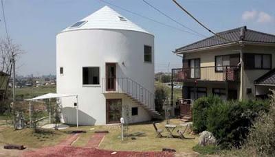 fachada de casa cilíndrica