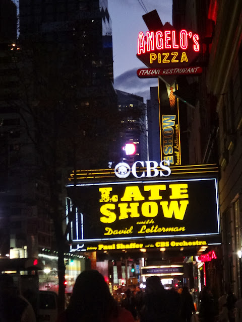 I found the studio of CBS Late Show with David Letterman in New York City, USA