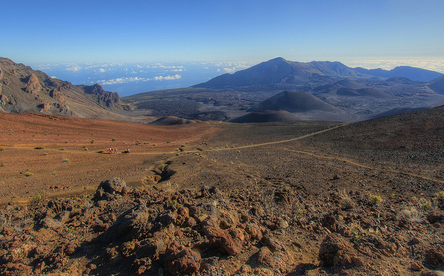 Hiking in the Haleakala National Park