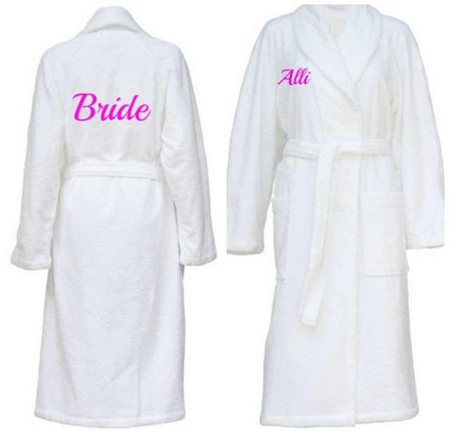 Personalised Bridal Dressing Gowns WowWee.co.uk