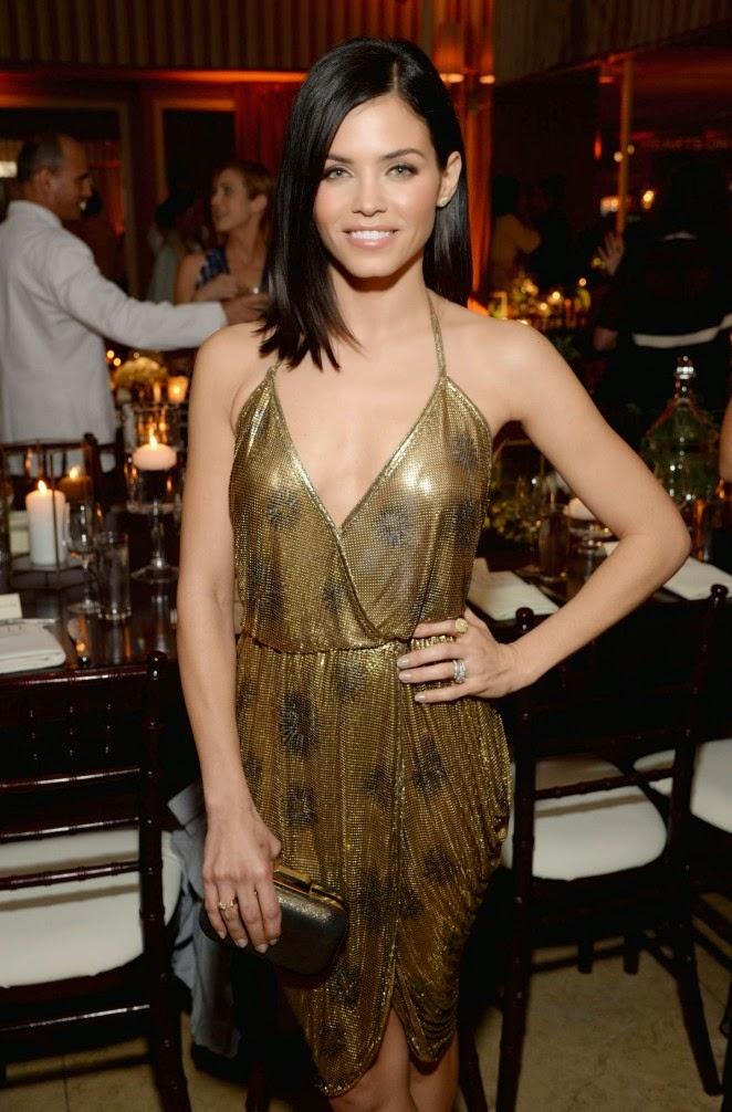 Jenna Dewan-Tatum in a metallic dress at Elle's Annual Women in Television Celebration