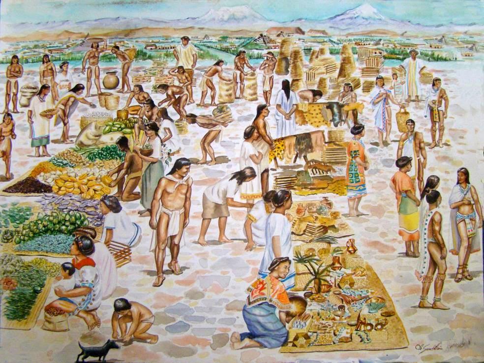 culturas mayas y aztecas econom a azteca