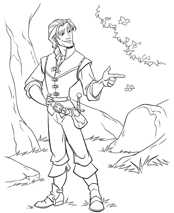 Kids Under 7 Tangled Rapunzel Coloring Pages