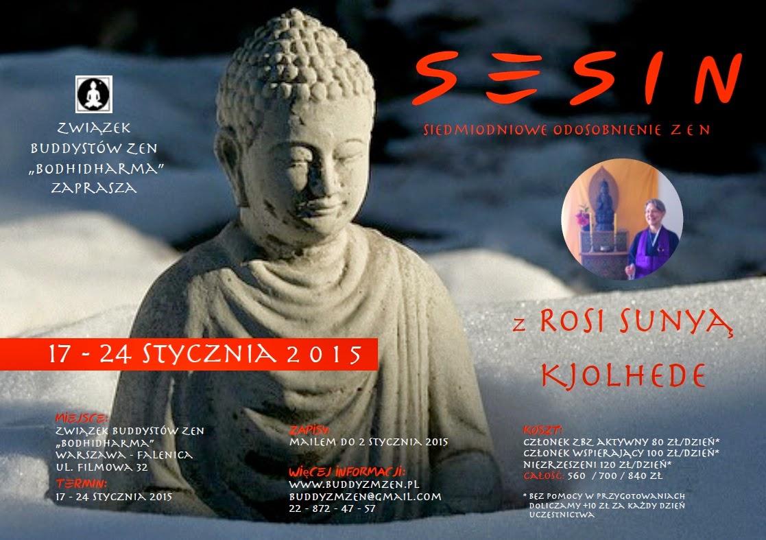 """Związek Buddystów Zen """"Bodhidharma"""": Zimowe sesin 2015 z Rosi Sunyą"""