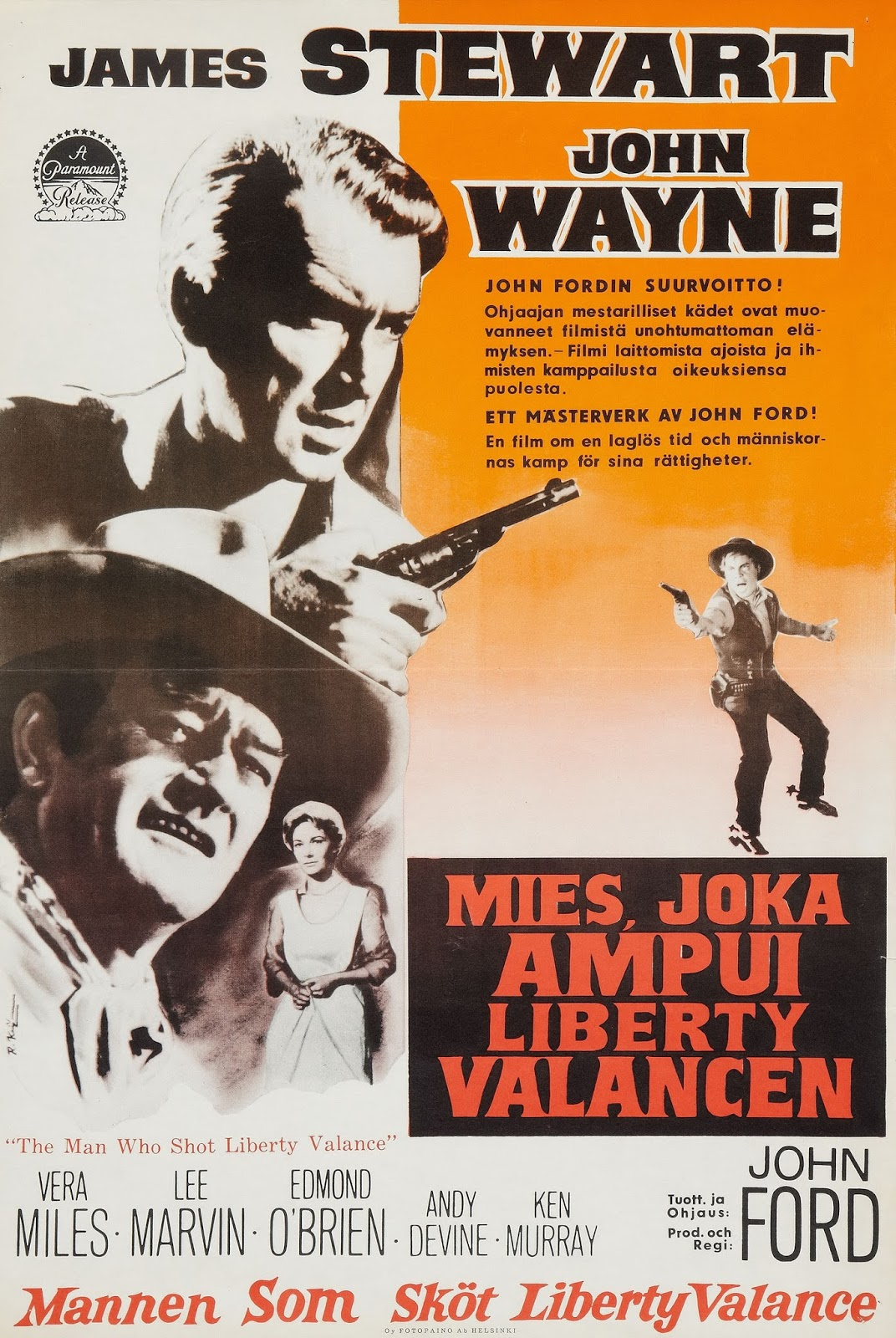 an analysis of the movie the man who shot liberty valance The man who shot liberty valance premiered at the park theatre in london  & film bookshop 7623 sunset blvd hollywood, ca 90046 10am–6pm mon–sat.