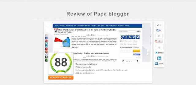 Review papablogger Facebook fan page