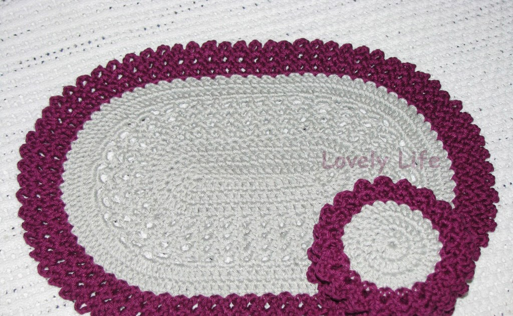 Lovely Life Oval Placemat And Coasters