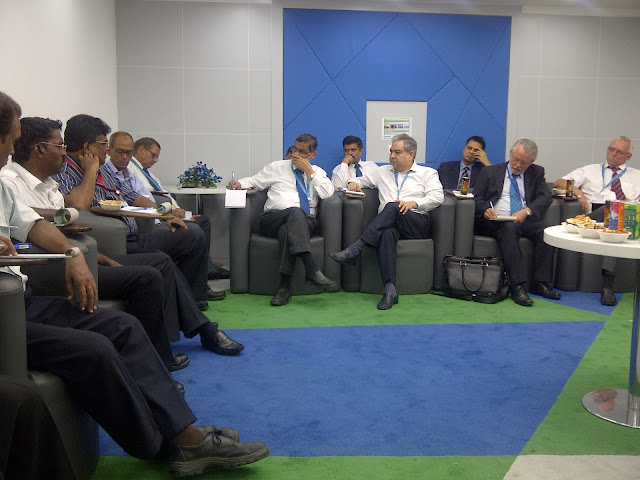 Mr Prem Bajaj and Cargo Managers in meeting at Chennai