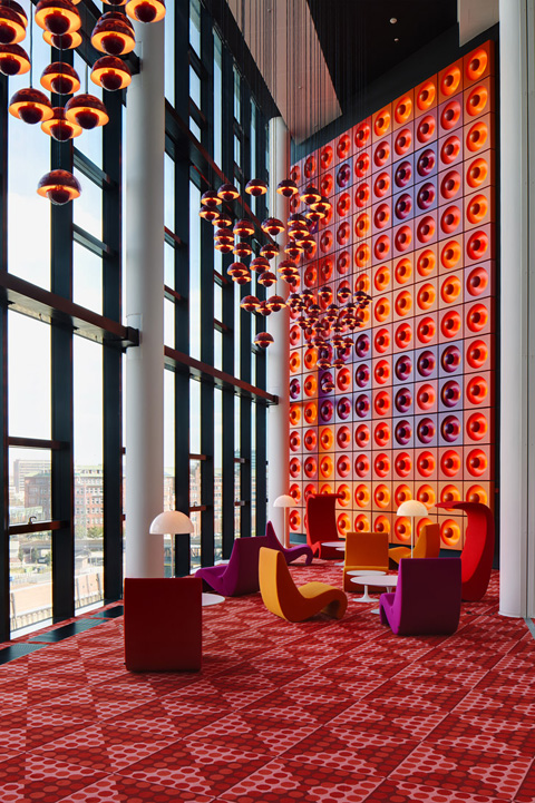 nordiska style verner panton der spiegel hq and iconic canteen hamburg. Black Bedroom Furniture Sets. Home Design Ideas