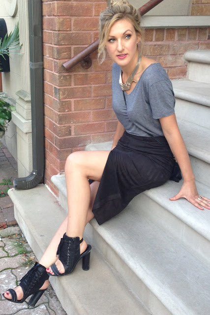 Olivia front-slit pencil skirt by Glamorous UK