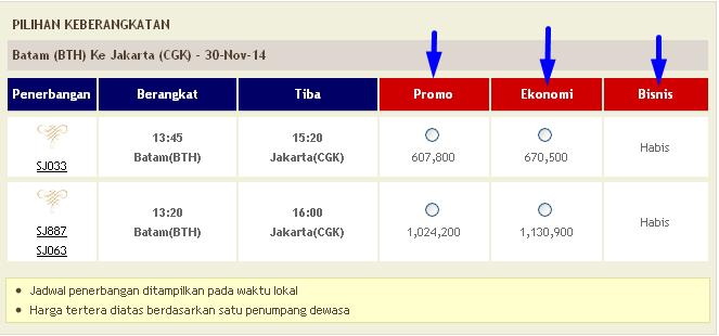 harga tiket pesawat sriwijaya air