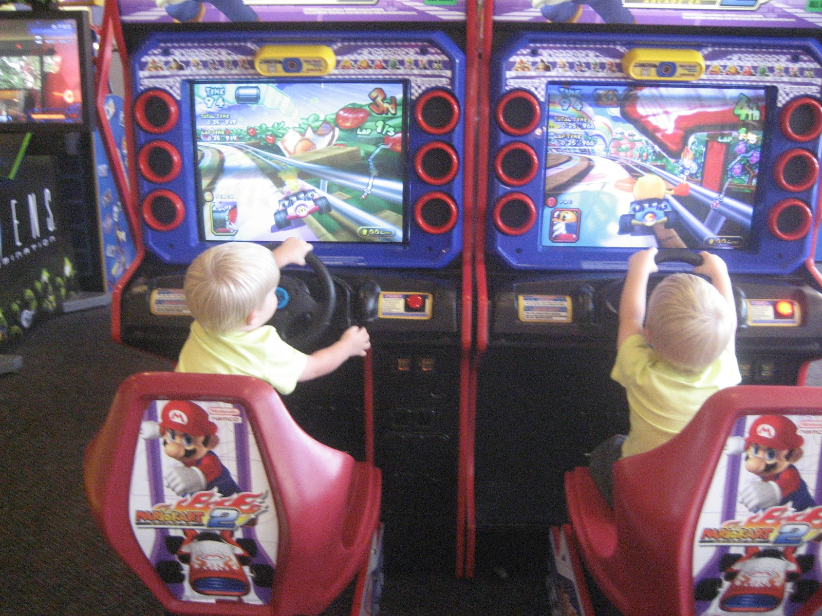 Chuck E Cheese Games 2014 The boys loved the car gamesChuck E Cheese Games 2014