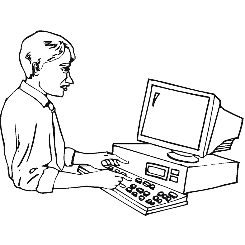 Computers Coloring Pages To Prints | Family, People and Jobs ...