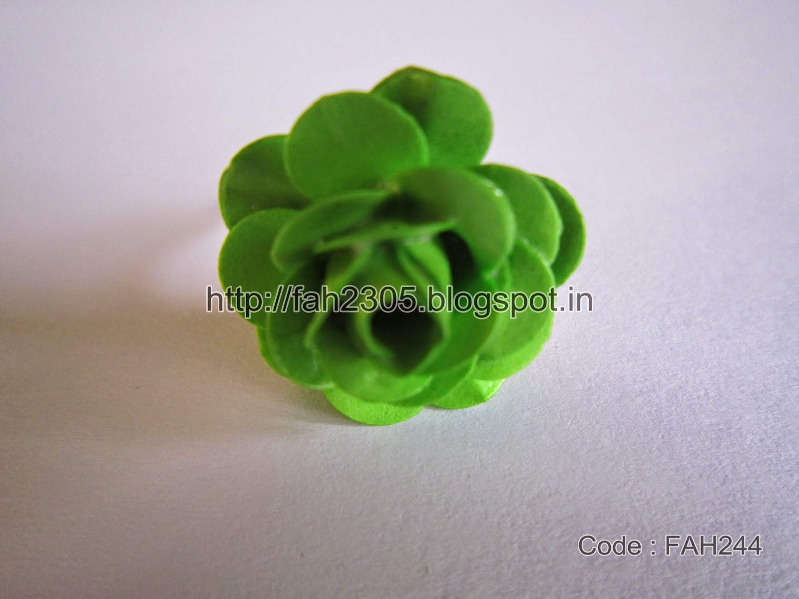 Fah Creations Paper Punch Flower Rings