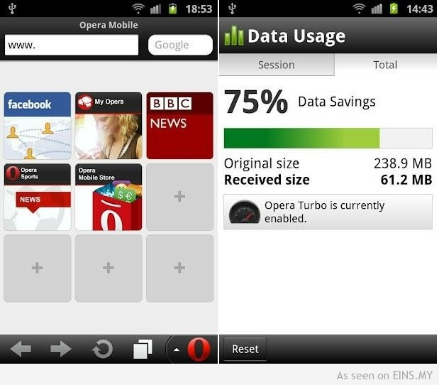 Opera Mini Next Handler Android download Opmin