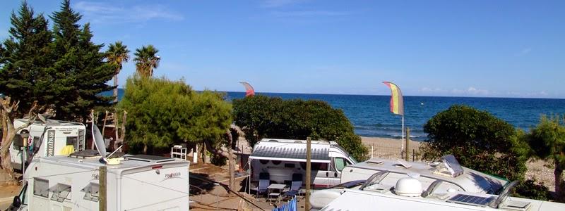 Parcela del Camping Didota con vistas a la playa - Camping Castellón