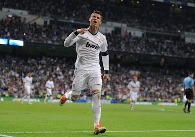 Cristiano celebrates his goal against Malaga