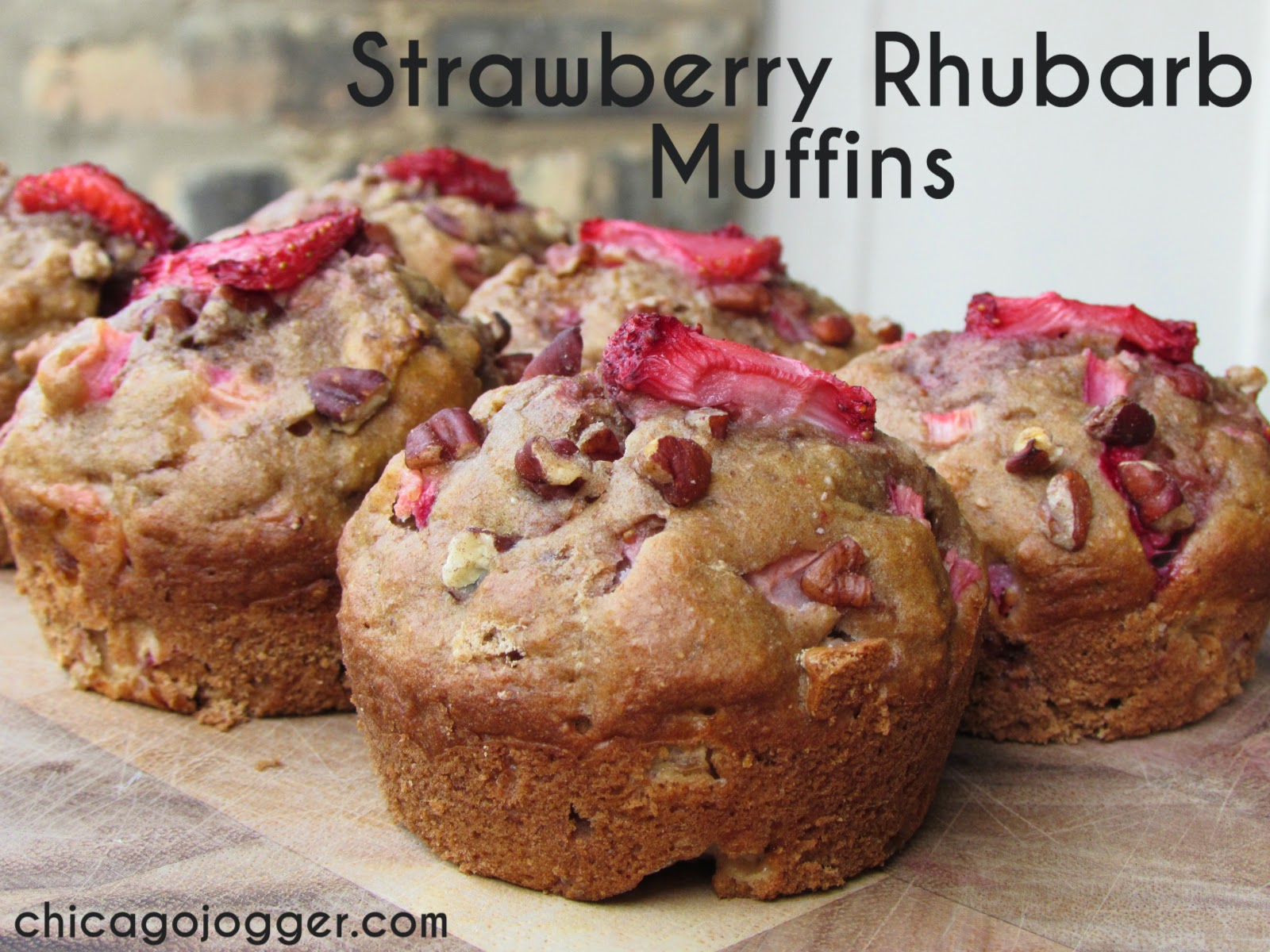 Chicago Jogger: Strawberry-Rhubarb Muffins.