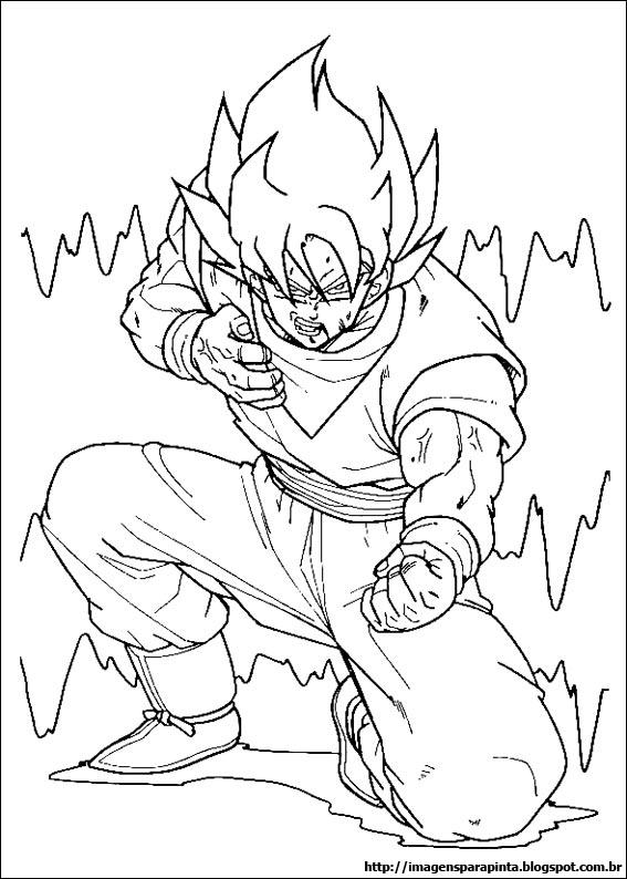 Desenho como desenhar dragonball z dbz goku pintar e colorir