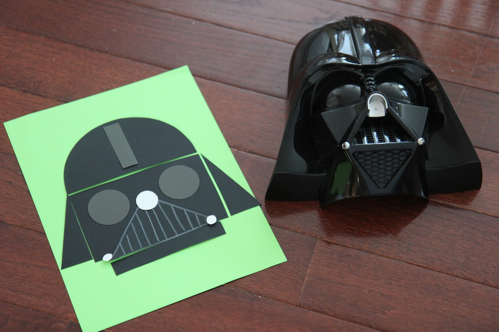 Как сделать маску дарта вейдера из картона