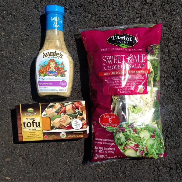 Vegan Road Trip Essential: Bagged Salad with Tofu