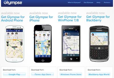 شارك موقعك على الخريطة هع أصدقائك بواسطة glympse  بديل google latitude