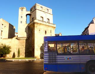 Bus, trams et chantiers à Montpellier