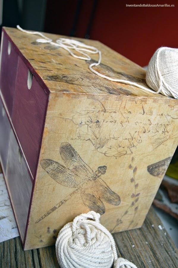 Transfer con papel vintage