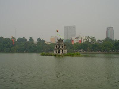 Turtle Tower - Hoan Kiem, Hanoi, Vietnam