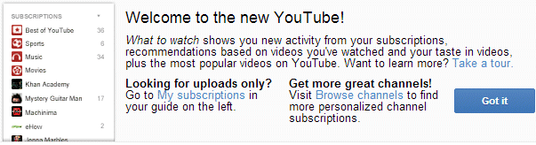 YouTube's Interface, Closer Launch