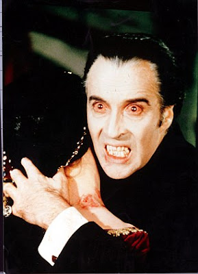 Christopher Lee as Dracula in 1958