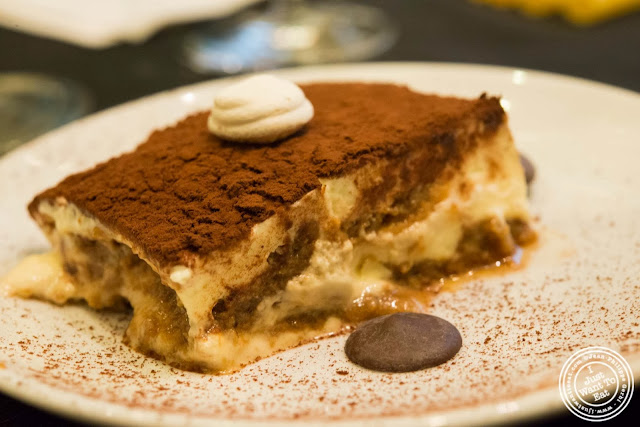 image of tiramisu at Osteria Del Circo in NYC, New York