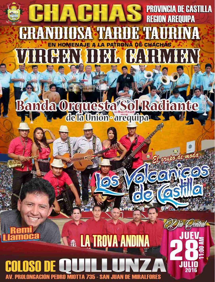 GRAN CORRIDA DE TOROS 28 JULIO 2016