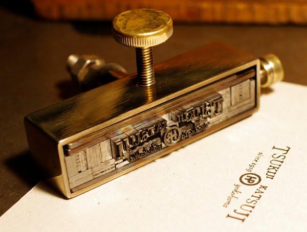 新・活字ホルダー活版印刷用活字で印字