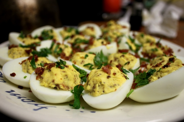 Fooditka: Bacon Deviled Eggs - A Smoky Football Treat