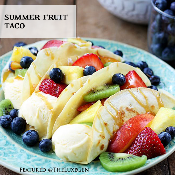 fruit taco, taco recipe, dessert taco, national taco day