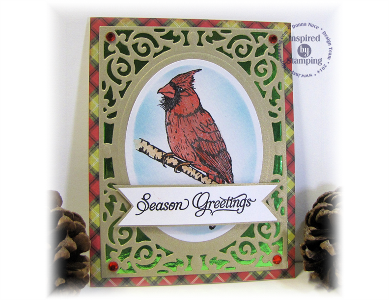 Inspired by Stamping, Crafty Colonel, Winter Birds, Christmas Card