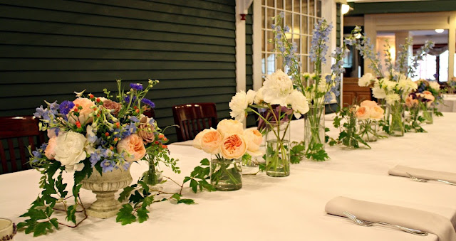 Longfellows Table Wedding Centerpiece