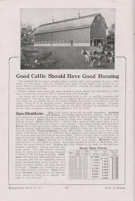 Good Cattle Should Have Good Housing::Montgomery Ward Kit Barn